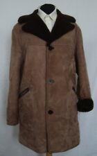 Da Uomo Pelle Scamosciata Marrone Chiaro Cappotto in montone Shearling taglia 44 - #3206