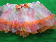 NWT Toddler Girl 12 month Pink Purple Orange floral tulle skirt BABY STARTERS