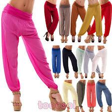 Pantaloni donna sarouel harem cavallo basso leggeri elastico nuovi AS-7010