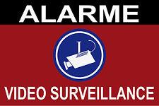 """Panneau de dissuasion """"alarme vidéo surveillance"""" 300x200mm"""