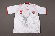 PUMA TUNISIA NATIONAL TEAM 2006/2007 HOME FOOTBALL SHIRT #9 Yassine Chikhaoui
