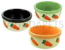 ROSEWOOD SMALL ANIMAL RABBIT GUINEAS CERAMIC CARROT DEISGN FOOD DRINK BOWL 06717