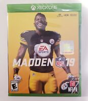 Madden NFL 19 Xbox One for Microsoft XB1 4K 2018 2019 - BRAND NEW FACTORY SEALED