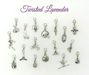 Buy 3 Get 3 Free! Sports Charms with clasp - Bracelets, Necklaces, DIY Jewelry