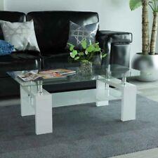 vidaXL Tavolino da Caffè Ripiano Inferiore 110x60x40 cm Bianco Tavolo Salotto