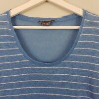 [ VINCE ] Womens Striped Linen Top  $190 | Size XS or AU 8 / US 4