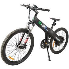 26'' Electric Bicycle E-Bike Pedal-Assist Adult City MountainBike 36v 500W Black