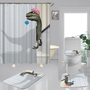 Funny Bathing Durable Shower Curtain Bathroom Curtain with Hooks Bath Curtain