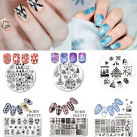 Born Pretty Christmas Nail Art Stamping Plates Image Stamp Templates