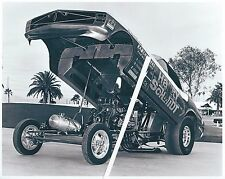 Vintage NHRA Drag Racing-Harry Schmidt's 69 Mustang AA/Funny Car-before BLUE MAX