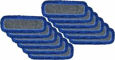 "Microfiber Dust Mop Pad - 36"" Hook and loop Flat Mop Pad W/Fringe - 12 Pack"