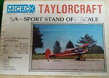 VINTAGE MICROX TAYLORCRAFT 1/2A- SPORT STAND OFF SCALE R/C MODEL KIT UNBUILT!!