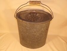 Antique Large Oval Minnow Bucket Cabin Cottage Lake House Decor Fishing