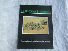 Concord Farm Implements Brochure Tillage No Till System Seed Meter Air Drill