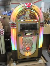 Jukebox Rock Ola Bubbler Jukebox CD Walnut Blue Tooth Cds included