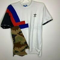 Adidas Originals Mens XL White/Red/Blue/Camo Short Sleeve Shirt