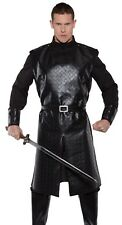 Medieval King Costume Deluxe Jon Snow Nights Watch Game Thrones - Plus 2XL XXL