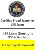 Certified Fraud Examiner CFE Exam (186 Exam Questions PDF Sim->Email)