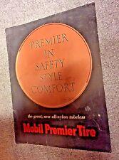 Rare Mobil oil gas Pegasus Premier Tire Sales Brochure  NR