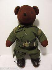 "VTG North American Bear Co. ""Bearatrooper"" Bear Stuffed Plush with Higbee's Tag"