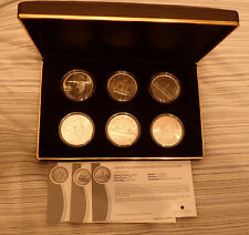 SIX Vintage Canadian Silver Dollar Collection - 1935-1967 Uncirculated