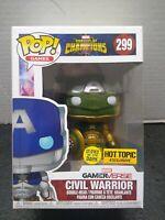 Funko Pop! Marvel Contest Of Champions Civil Warrior #299 Hot Topic Exc. GITD