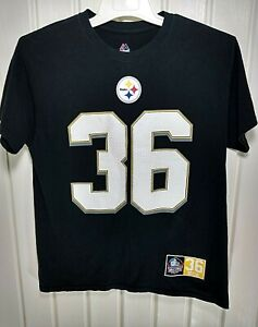 Jerome Bettis Pittsburgh Steelers Majestic  Hall Of Fame Jersey T-Shirt Size L
