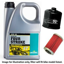 Suzuki GSF 600 X Bandit Naked 1999 Motorex Four Stroke Oil / K&N Filter Kit