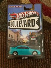 Hot Wheels Honda Civic Coupe Boulevard Big Hits #W4611 NRFP 2011 Turquoise 1:64