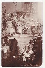 Rppc,Church Broughton,U.K.Easter Sunday,1911 Interior of St Michaels ,Derbyshire