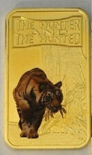 Somalia 2013 Goldplated Color Rectangular 25 shilling-Fauna-Tiger