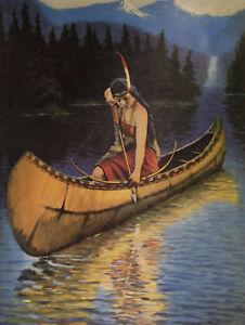 INDIAN MAIDEN PRINTS VINTAGE ART LITHO LOT 10 DIFF. - Zula Kenyon - calendar art
