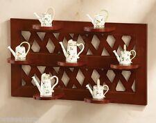 Tiered Collectors Figurine Sitter Wooden Lattice Wall Shelf Display Accent Decor