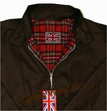 RETRO HARRINGTON JACKET MOD SKINHEAD INDIE SKA BROWN XL
