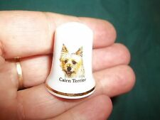 vintage Cairn Terrier Dog Collectible ceramic Thimble figurine Lim.Edition