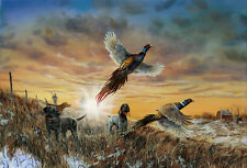 Jim Hansel Opening Day Pheasant Print 12 x 7.75