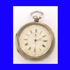 Superba Ebraico Argento FUSEE Rabinovitch di Leeds centro Sec'S CHRONO WATCH 1901