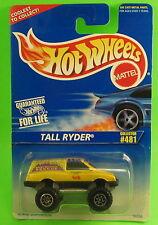 Hot Wheels Tall Ryder #481 MOC 1995 Card Ranger Ned Van Rocky Mountain Rescue