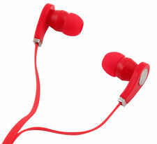 Ecouteurs Kit Pieton Main Libre Rouge pour Samsung iPhone HTC LG Huawei Sony MP3