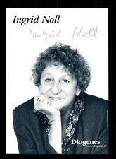 Ingrid Noll AUTOGRAFO MAPPA ORIGINALE FIRMATO # BC 101439