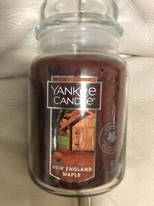 Yankee Candle New England Maple Large Jar 22oz NEW! Spicy Fall Autumn