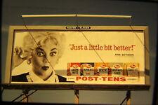 Vtg 35mm Color Photo 1960 POST TENS Cereal Billboard Ann Sothern