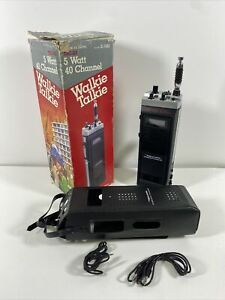 Vintage Realistic TRC-212 Walkie Talkie 40 Channel 5 Watts Complete With Box