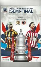 Hull City v Sheffield United FA Cup Semi Final Football Programme 2014