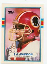 1989 TOPPS TRADED FOOTBALL #96T - A. J. JOHNSON - WASHINGTON REDSKINS