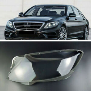 For Mercedes-Benz S-Class S320 S400 S500 S600 14-17 Clear Headlamp Cover Left