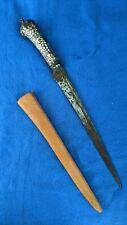 Indian kard dagger 19th Cen. Silver koftgari handle with hidden storage space!