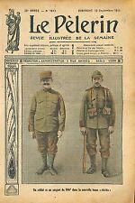 Portrait Soldat & Sergent 106é Régiment Tenue Uniforme Réséda 1911 ILLUSTRATION