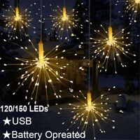 USB/Battery Firework LED Copper Wire Strip Fairy String Lights Xmas Party Decor
