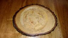 U.S. Navy Emblem in a Wood Round - Handmade - DAV Donation
